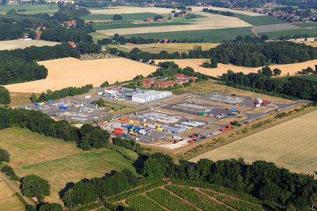 Luftaufnahme RWE Dea Förderbetrieb Niedersachsen