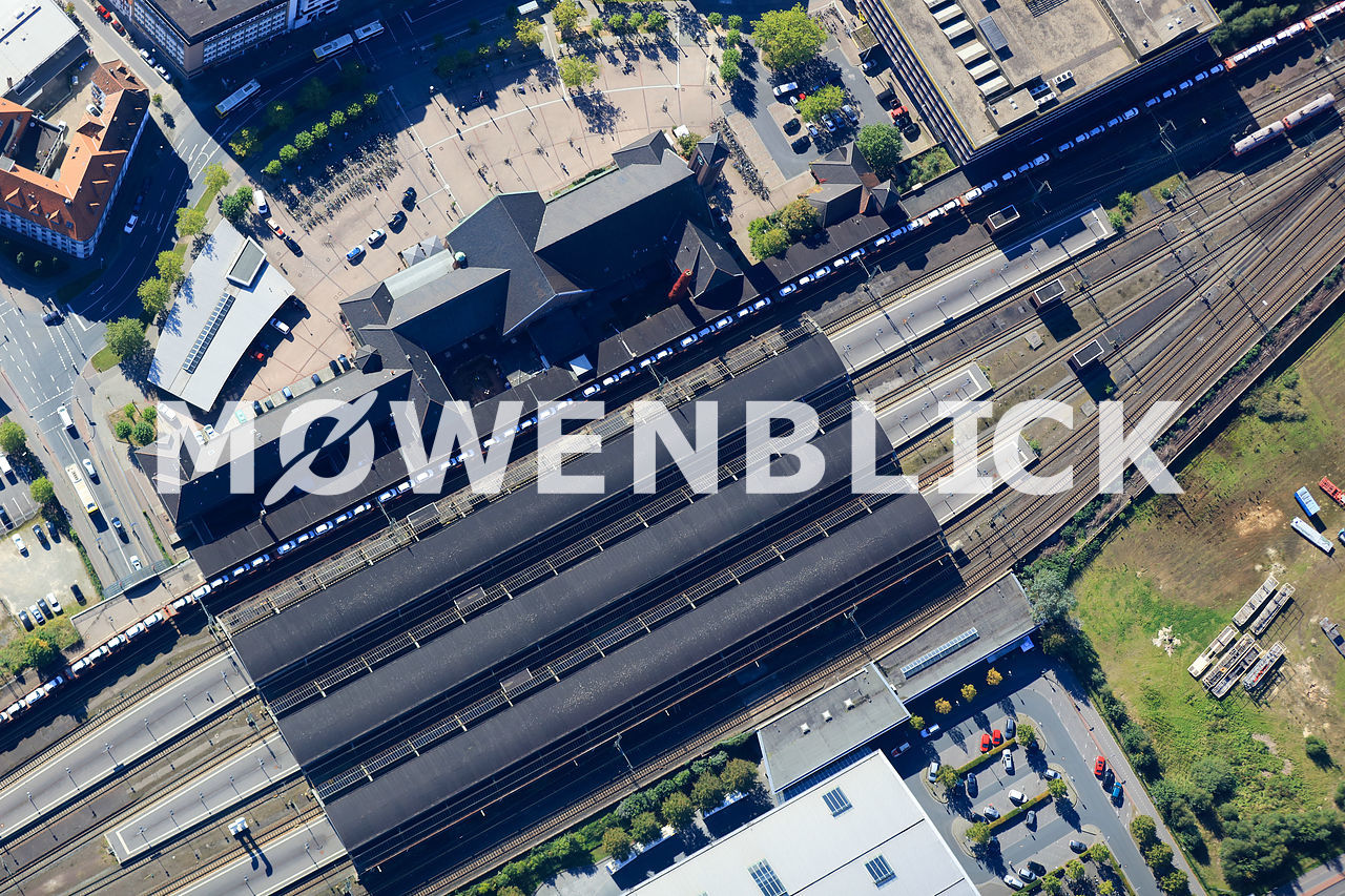 Bahnhofsdach Luftbild