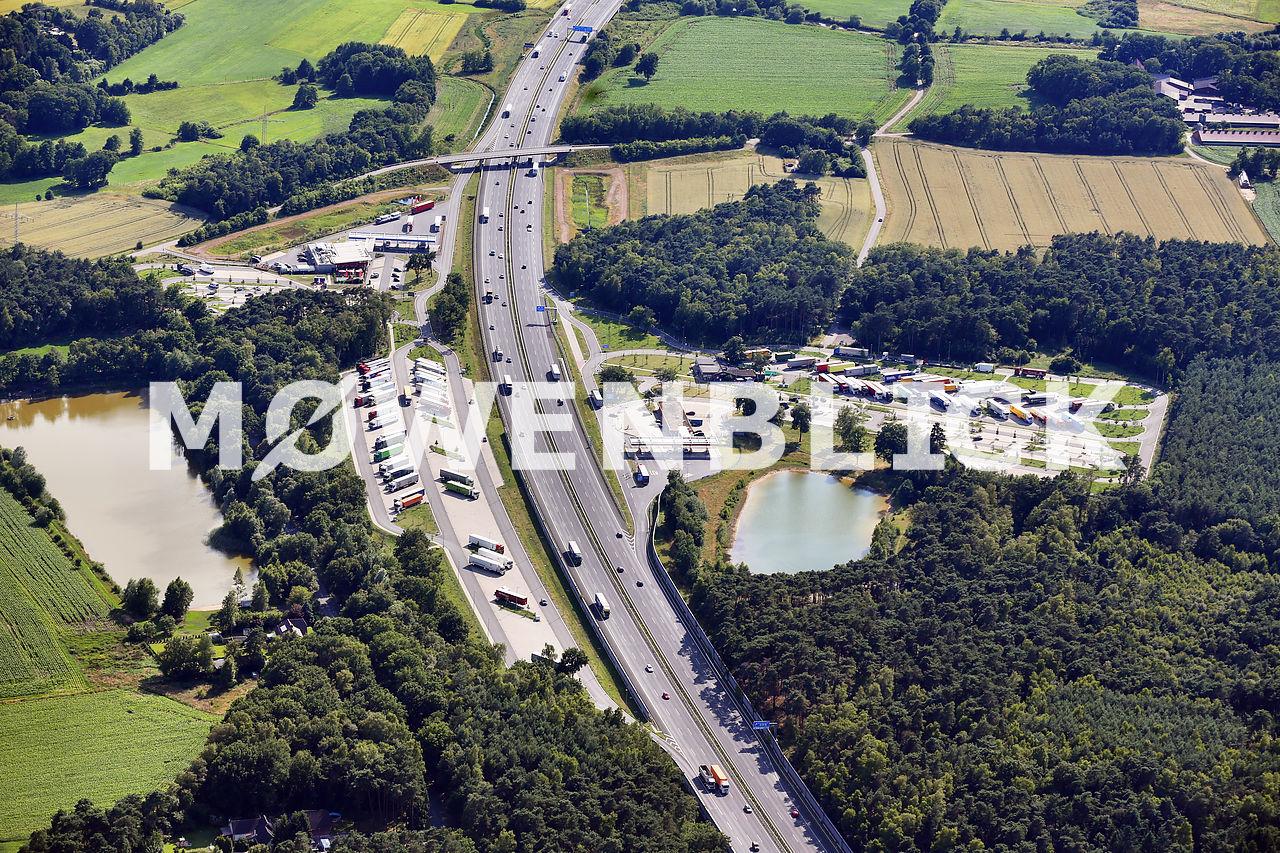 Raststätte Grundbergsee Luftbild