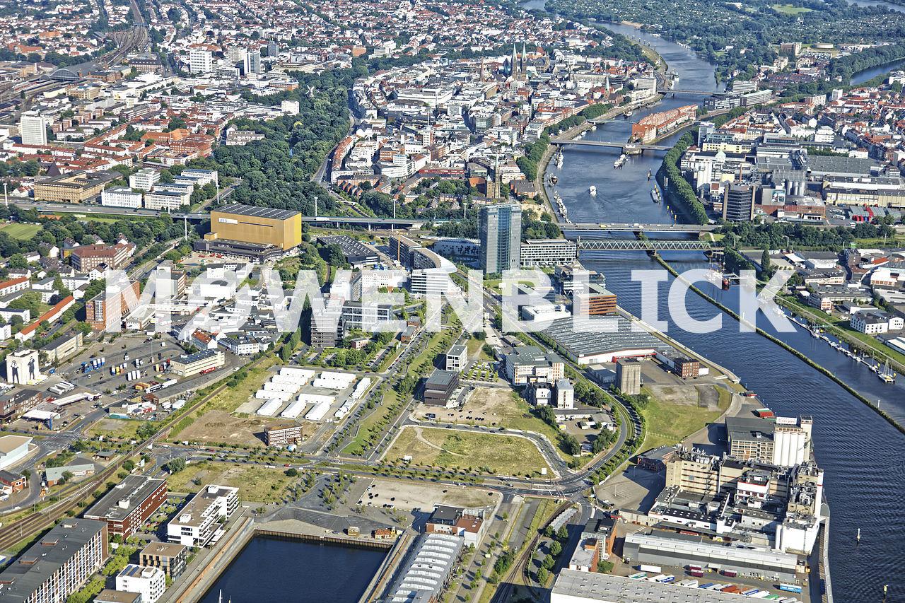 Auf der Muggenburg Luftbild