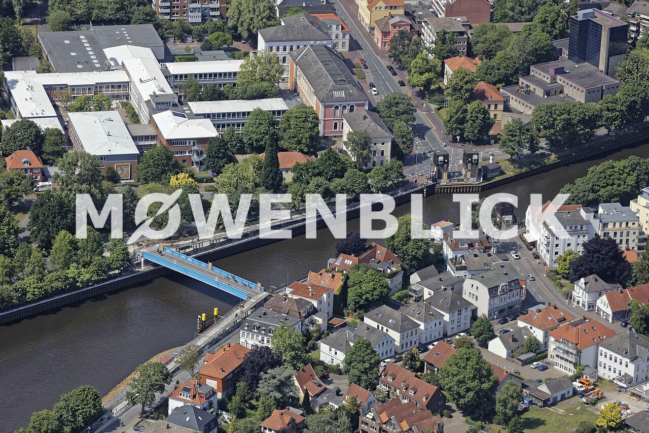 Cäcilienbrücke neu Luftbild