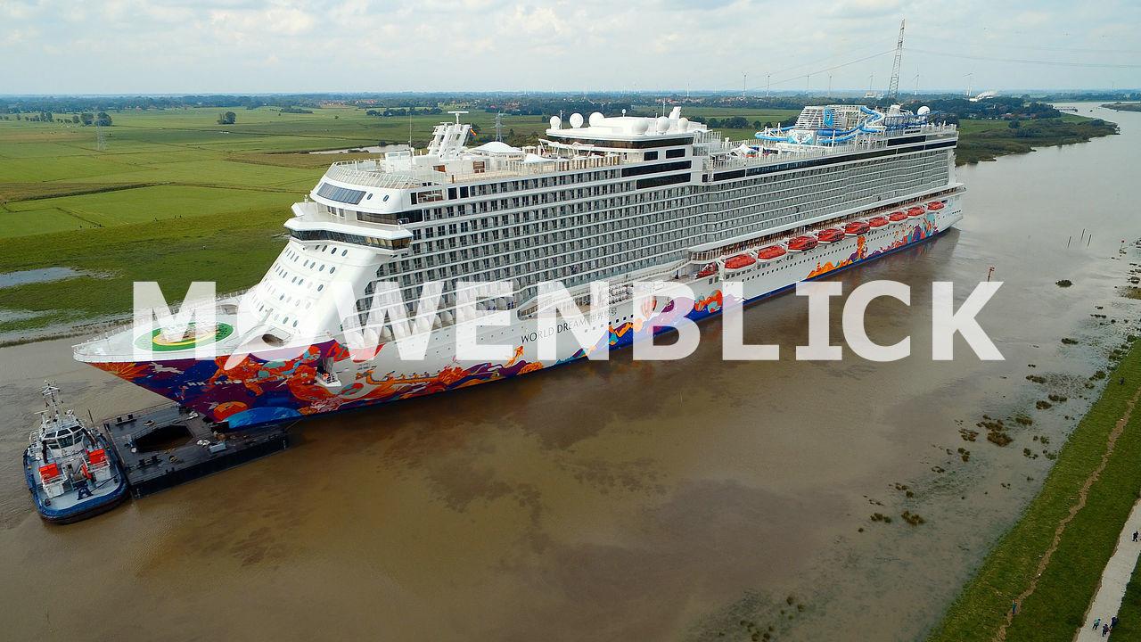 Schiffsüberführung Luftbild